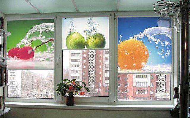 Рулонные шторы с фотопечатью изображения