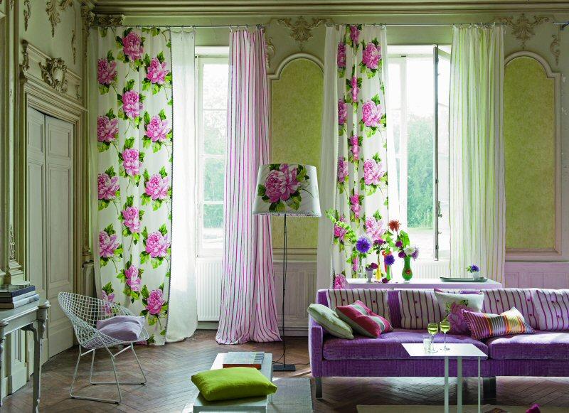 купить шторы в гостиную Москва