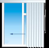 Способ управления вертикальными жалюзи от управления